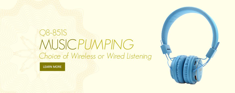 NIA Wireless Bluetooth Headphones Q8-851s